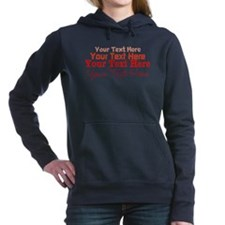 (red) Your Text Here Women's Hooded Sweatshirt
