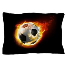Soccer Fire Ball Pillow Case