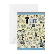 Two Wheels Card Greeting Cards