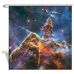 Mystic Mountain Astronomy Shower Curtain