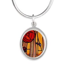 Charles Rennie Mackintosh Stained Glass Necklaces