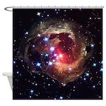 Red Variable Star V838 Shower Curtain