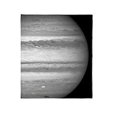 Jupiter on a Black Background Throw Blanket