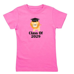 Class of 2029 Graduate (lion) Girl's Tee