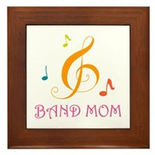 Band Mom Music Stylish Framed Tile