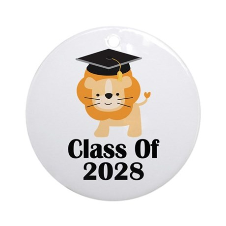 Class of 2028 Graduate (lion) Ornament (Round)