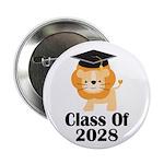 "Class of 2028 Graduate (lion) 2.25"" Button"