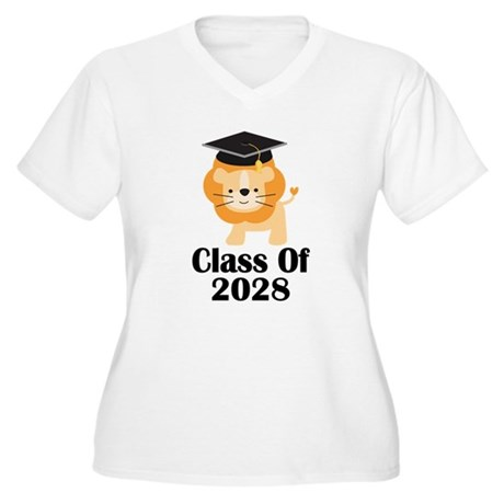 Class of 2028 Gra Women's Plus Size V-Neck T-Shirt