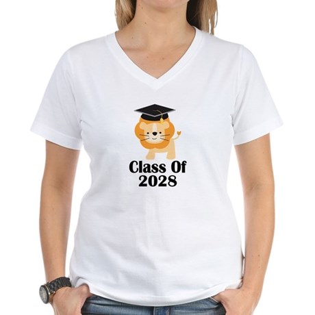 Class of 2028 Graduate (lio Women's V-Neck T-Shirt