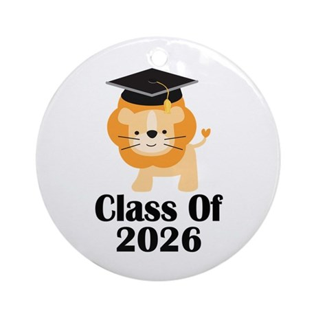 Class of 2026 Graduate (lion) Ornament (Round)