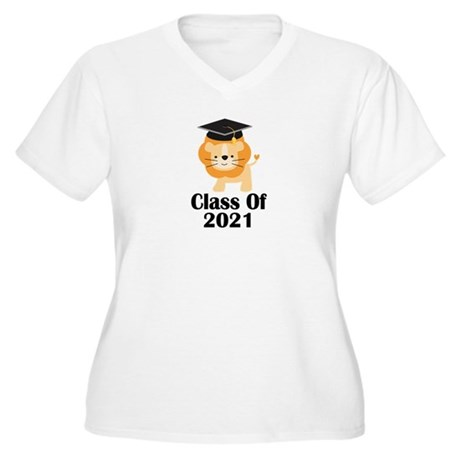 Class of 2021 Gra Women's Plus Size V-Neck T-Shirt