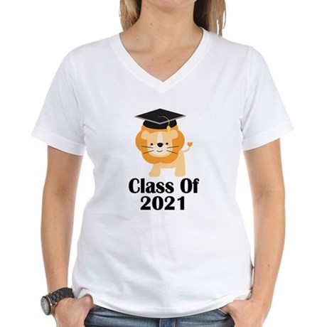 Class of 2021 Graduate (lio Women's V-Neck T-Shirt