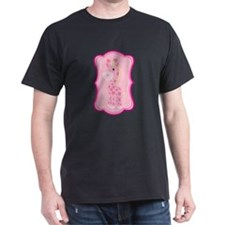Pink Giraffe on Pink Flourish T-Shirt
