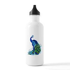 Beautiful Blue Peacock Water Bottle