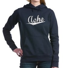 Ache, Retro, Women's Hooded Sweatshirt