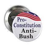 Pro-Constitution, Anti-Bush Button