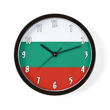 Flag Of Bulgaria Wall Clock