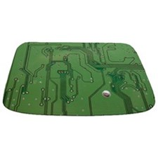 Green Circuit Board 2 mat Bathmat