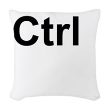 Ctrl (Control) Keyboard Key Woven Throw Pillow