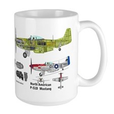 P-51 Mustang Burdick Father Son Ace Coffee Mug Mugs
