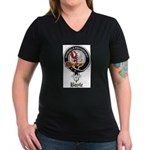 Boyle Clan Badge Crest Women's V-Neck Dark T-Shirt