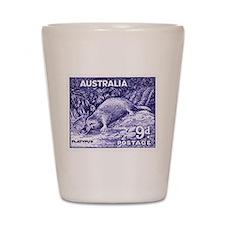 Vintage 1956 Australia Platypus Postage Stamp Shot