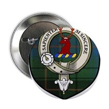 "Davidson Clan Crest Tartan 2.25"" Button"