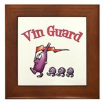 Vin Guard Wine Framed Tile