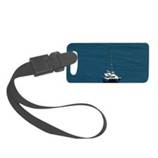 Catamaran moored offshore Luggage Tag