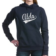 Alda, Retro, Women's Hooded Sweatshirt