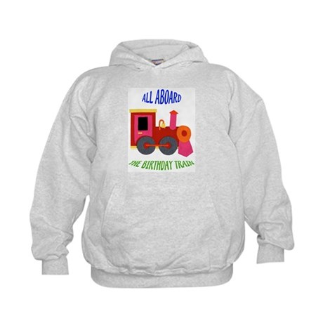 Train Birthday Kids Hoodie