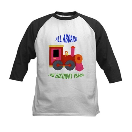 Train Birthday Kids Baseball Jersey