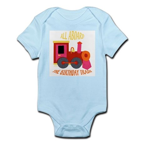 Train Birthday Infant Bodysuit