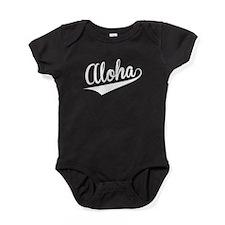 Aloha, Retro, Baby Bodysuit