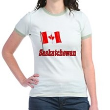 Canada Flag - Saskatchewan Text T