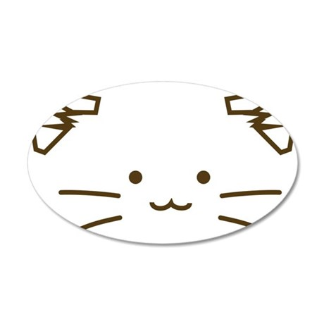 Fuzzballs Cat Face Wall Decal