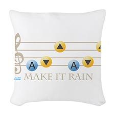 Make It Rain Woven Throw Pillow