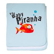 The Baby Piranha baby blanket