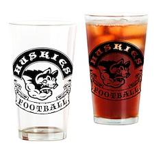 Huskies Football Drinking Glass