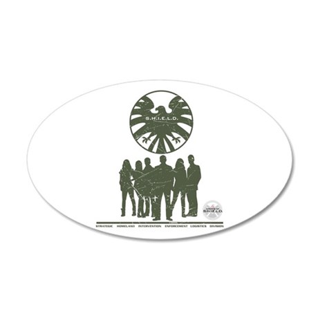 Agents of Shield Group Pose 20x12 Oval Wall Decal