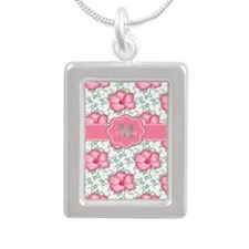 Pink Hibiscus Personalized Necklaces