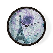 stamps purple floral modern paris eiffel tower Wal