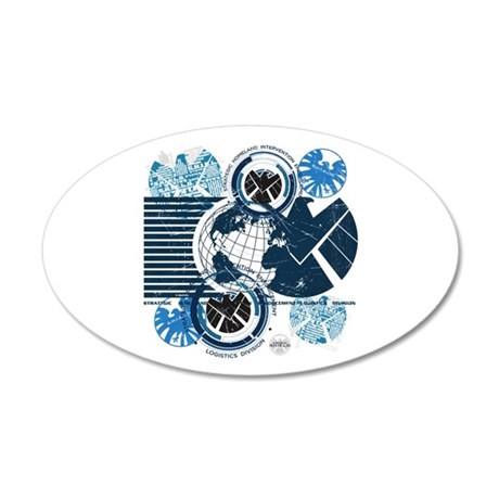 Agents of Shield 20x12 Oval Wall Decal