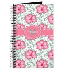 Pink Hibiscus Personalized Journal