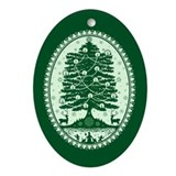 Tannenbaum Porcelain Oval Ornament