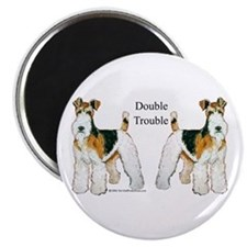 Double Trouble Wire Fox Terri Magnet