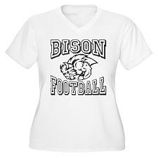 Bison Football Plus Size T-Shirt