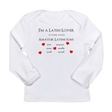 Latin Lover_Hearts Long Sleeve T-Shirt