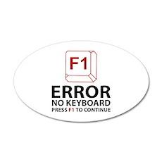 Error No Keyboard Press F1 To Continue 22x14 Oval