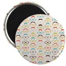 Hip Mustaches Magnets
